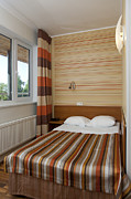 Hotel-room Photo Prints - Small and Colorful Hotel Room Print by Jaak Nilson