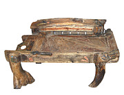 Weathered Sculptures - Small bench by Artist Group of Gallery Kolkata