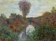 Fall  Of River Paintings - Small Branch of the Seine by Claude Monet