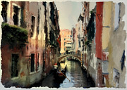 Towns Digital Art - Small bridge  Ponticello by Monica Ghit