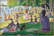 La Grande Jatte Prints - Small Bubbly Sunday on La Grande Jatte Print by Mark Einhorn