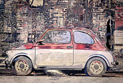 Painterly Photography Posters - Small Car 3 Poster by Scott Norris