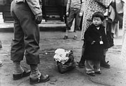 Emigration Photo Posters - Small Child Looks Apprehensively Poster by Everett