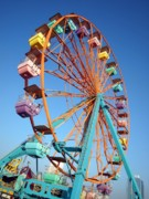Support Framed Prints - Small Colorful Ferris Wheel Framed Print by Yali Shi