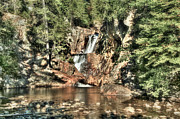 Rangley Prints - Small Falls Print by Brenda Giasson