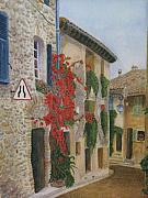 Small French Village Posters - Small French Village Poster by Barbara Pascal