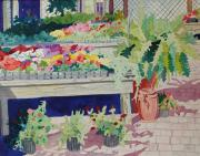 Small Garden Scene Print by Terry Holliday