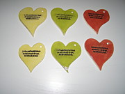 Hearts Ceramics - Small Hearts with big message by Sandi Floyd
