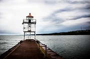Northern Minnesota Prints - Small Lighthouse Print by Perry Webster
