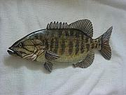 Aquatic Life Reliefs - Small Mouth Bass Number two-SOLD by Lisa Ruggiero
