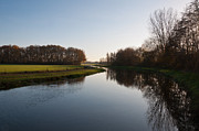 Small River In The Afternoon Light Print by Ruud Morijn