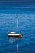 New England Ocean Framed Prints - Small Sailboat Framed Print by John Greim