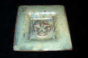 Hand Ceramics - Small Star Dish by Carolyn Coffey Wallace