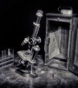 Microscope Framed Prints - Small Things Considered Framed Print by Mark Fuller