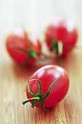 Grape Photo Metal Prints - Small tomatoes Metal Print by Elena Elisseeva