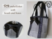 Bow Tapestries - Textiles - Small Tote by Tracie L Hawkins