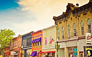 Store Fronts Prints - Small Town Colors Print by Christina Klausen