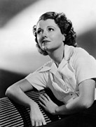 Chin Up Photo Prints - Small Town Girl, Janet Gaynor, 1936 Print by Everett