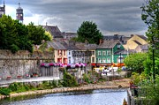 Land Scape Digital Art Prints - Small Town Ireland Print by Barry R Jones Jr