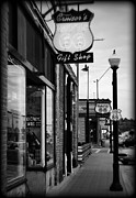 Williams Prints - Small Town Shops Print by Ricky Barnard