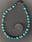 Southwestern Jewelry - Small TQ Rds and Magnesite Rondels by White Buffalo