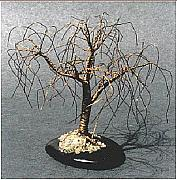 Sal Villano Art - Small Willow - Wire tree Sculpture  by Sal Villano