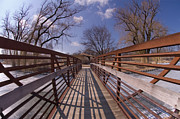 Tom Biegalski Acrylic Prints - Small Winter Bridge Acrylic Print by Tom Biegalski