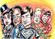 Caricature Mixed Media Framed Prints - Smallville Framed Print by Big Mike Roate