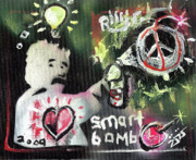 Mural Mixed Media Posters - Smart Bomb Poster by Robert Wolverton Jr