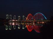 Korea Prints - Smart City-apartments-reflection-expo Bridge-daeje Print by Copyright Michael Mellinger