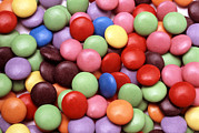 Natural Food Prints - Smarties Print by Victor De Schwanberg