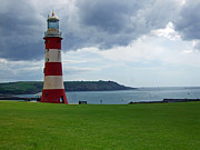 Hallmark Metal Prints - Smeaton Tower - Plymouth UK Metal Print by Joshua Benk