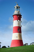 Lighthouse Digital Art - Smeatons Tower Lighthouse Plymouth Hoe by Donald Davis