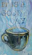 Tilly Strauss Mixed Media Metal Prints - Smell the Coffee Metal Print by Tilly Strauss