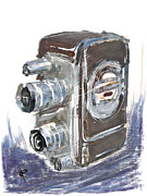 Film Camera Mixed Media Prints - Smile and Wave Print by Russell Pierce
