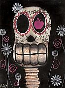 Mexican Art Painting Posters - Smile your Dead Poster by  Abril Andrade Griffith