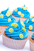 Smiley Faces Prints - Smiley face cupcakes Print by Ruth Black