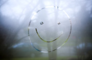 Smiley Face Posters - Smiley Face on Window, Seattle, Washington Poster by Paul Edmondson
