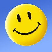 Smiley Face Posters - Smiley Face Symbol Poster by Detlev Van Ravenswaay
