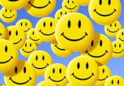 Smiley Face Prints - Smiley Face Symbols Print by Detlev Van Ravenswaay