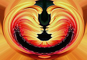 Yellow And Red Prints - Smiley Gerberer Print by Kaye Menner