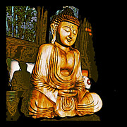 Iphone Prints - Smiling Buddha Print by Paul Cutright