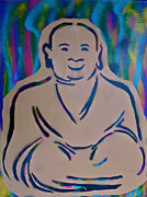 First Amendment Paintings - Smiling Buddha by Tony B Conscious
