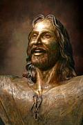Smiling Jesus Sculptures - Smiling Christ by Tom White