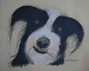 Smile Pastels Prints - Smiling Dog Print by Jose Valeriano