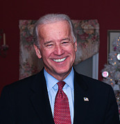 Joe Biden Posters - Smiling Joe Poster by John Poltrack