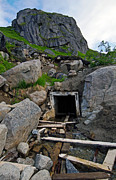 Gold Mine Photos - Smiling Mine Shaft by Ron Day