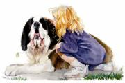 Pets Paintings - Smiling Saint by Debra Jones