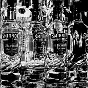Glass Reflection Framed Prints - Smirnoff Vodka Framed Print by David Patterson