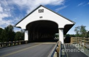 Covered Bridge Acrylic Prints - Smith Covered Bridge - Plymouth New Hampshire USA Acrylic Print by Erin Paul Donovan